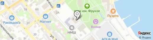 Бассейн на карте Новороссийска