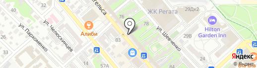 ПИРО-НОВ на карте Новороссийска