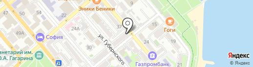 Продукты на карте Новороссийска