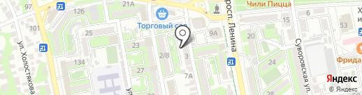 Верхний Город на карте Новороссийска