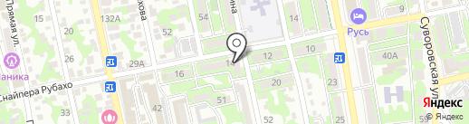 Кактус на карте Новороссийска
