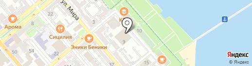 Морской культурный центр на карте Новороссийска