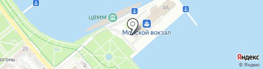 Служба капитана морского порта на карте Новороссийска