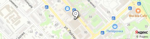 Лотос на карте Новороссийска