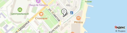 Банкомат, Альфа-банк на карте Новороссийска