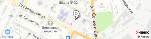 Виорика на карте Новороссийска
