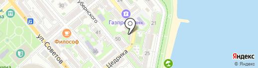 Шашлычная на Набережной на карте Новороссийска