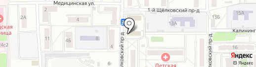 Декар на карте Мытищ