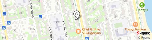 Банк Первомайский, ПАО на карте Новороссийска