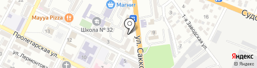 Розлив №1 на карте Новороссийска