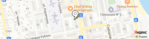 Красотка на карте Новороссийска