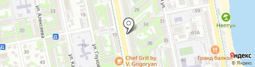 Банкомат, Газпромбанк на карте Новороссийска