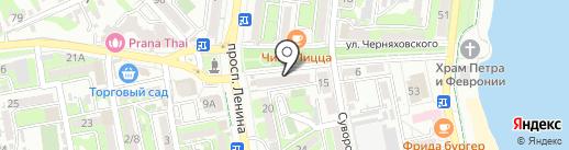Paradise на карте Новороссийска