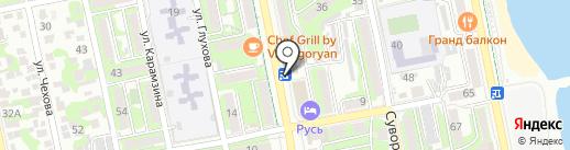 Суши Wok на карте Новороссийска