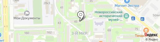 Библиотека им. Ф.В. Гладкова на карте Новороссийска