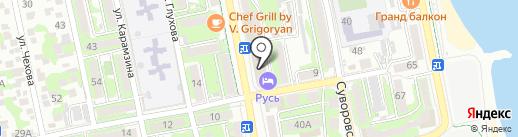 Русь на карте Новороссийска