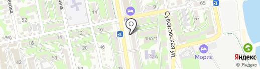 КРЫЛЬЯ на карте Новороссийска