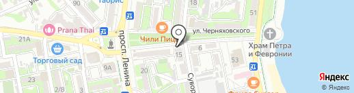 33 пингвина на карте Новороссийска