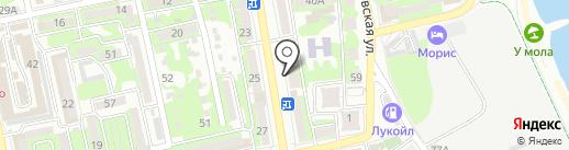 Салон мебели на карте Новороссийска