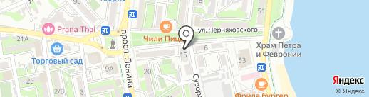 Кремелье на карте Новороссийска