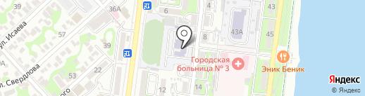 Средняя общеобразовательная школа №22 на карте Новороссийска