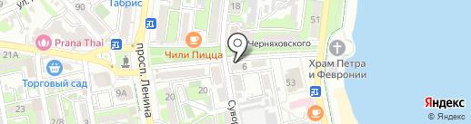 Арт авеню на карте Новороссийска