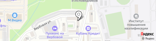 Клубок на карте Новороссийска