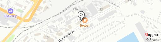 Совмортранс на карте Новороссийска