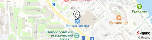 Банкомат, Ханты-Мансийский банк Открытие, ПАО на карте Новороссийска