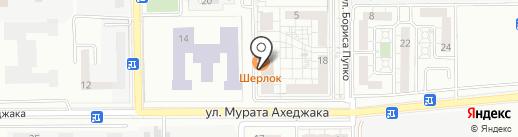 Черноморский на карте Новороссийска