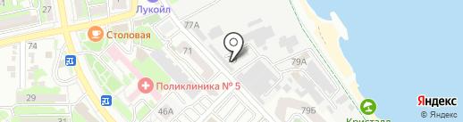 Мега-Трейд на карте Новороссийска