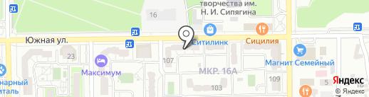 Телвед на карте Новороссийска