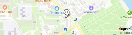 Раковая №1 на карте Новороссийска
