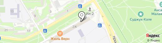 Автобан-Юг на карте Новороссийска