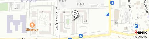 Печенька на карте Новороссийска
