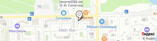 Ромашка на карте Новороссийска