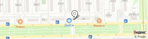 Лига Ставок на карте Москвы