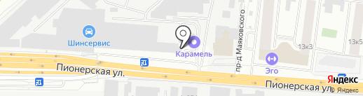 Лес техно на карте Королёва