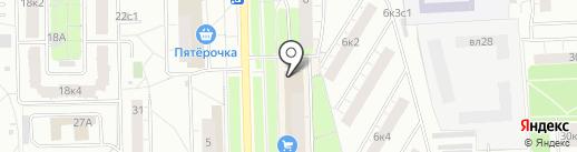 Магазин сувениров и солнцезащитных очков на карте Москвы