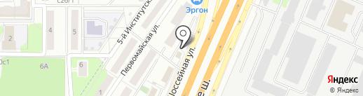 Магазин фруктов и овощей на Шоссейной на карте Королёва