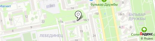 Библиотека №4 на карте Старого Оскола