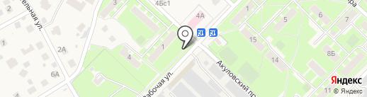 Березка на карте Пушкино
