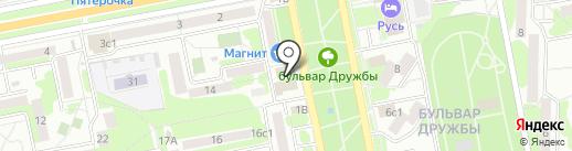 Банкомат, Банк ВТБ 24 на карте Старого Оскола