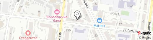 Позиция на карте Королёва