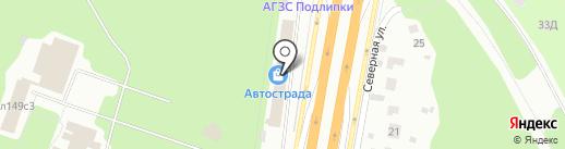 Автострада на карте Мытищ