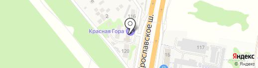 Красная Гора на карте Челюскинского