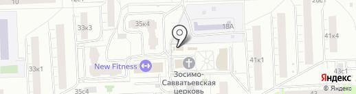 Воскресная приходская школа на карте Москвы