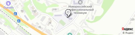 Основная общеобразовательная школа №16 на карте Новороссийска