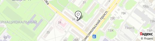 Салон красоты Елены Шаповаловой на карте Старого Оскола