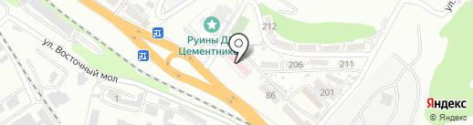 Детская поликлиника №3 на карте Новороссийска